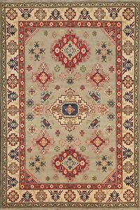 Geometric Super Kazak Oriental Area Rug Wool Handmade Vegetable Dye 5x7 Carpet