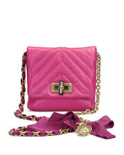 Lanvin Happy - Mini Leather Crossbody 6.5'' Bag Pink/Fuschia Ret $1685