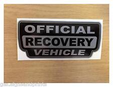 X2 72x32mm Plata Oficial vehículo de recuperación - 4x4 Land Rover-calcomanía adhesivo