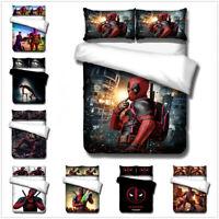 3D Deadpool Kids Bedding Set Anime Hero Duvet Cover Pillowcase Comforter Cover