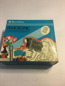 Bell & Howell Filmosonic XL 1235 Super 8 Movie Camera Macro Zoom Lens & Sound