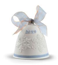 Lladro 2019 Blue Christmas Bell #18446 Annual Ltd