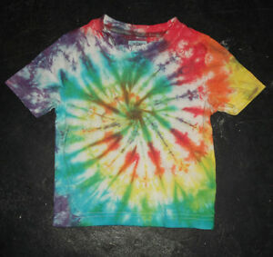 Festival Kid's rainbow Tie Dye T shirt Hippy Children's Age 1-13