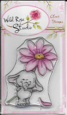 Wild Rose Studio Clear Stamp -- NEW -- Bella with Daisy -- (#2140)
