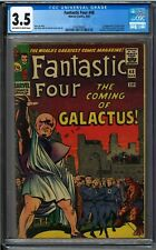 Fantastic Four #48, CGC 3.5, OW-W Pages, 1st Silver Surfer & Galactus. 🔥