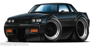 1987 Buick GNX Grand Narional 3.8 Turbo Race Car Black Garage Graphic Decal