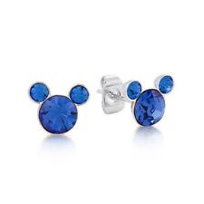 Septiembre Azul Zafiro Cristal Mickey Mouse PIEDRA DE NACIMIENTO Pendientes