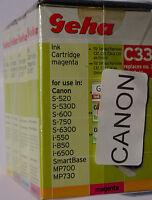 (PRL) LOTTO CARTUCCE 4 COLORI GEHA C33 COMPATIBILE PER CANON INK CARTRIDGE LOT