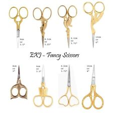 """Multi Purpose Fancy Scissors 3"""" 3.5"""" 4"""" - Gold Plated - Fancy Sewing Embroidery"""