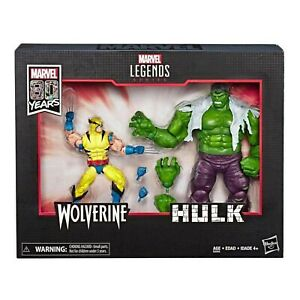 Marvel Legends 80th Anniversary Wolverine and Hulk 6-Inch Action Figures - Ex...