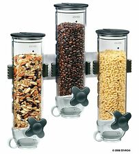 Wall Mount Cereal Dry Food Dispenser Storage Container Canister Portion Control