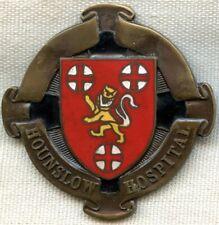 Beautiful WWII Nurse Badge from Hounslow Hospital, London. Named & Dated