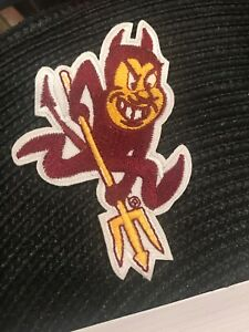 ASU Arizona State University Sun Devils vintage embroidered iron on patch 3.75""