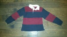 Gymboree Football League boys shirt size 7 rugby collar stripe