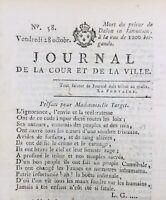 Journal Royaliste 1791 Dalon Limousin Marseille Desmoulins Caen Émigrés Jacobin