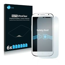 6x Savvies Screen Protector for Swees 5.0 MTK6577 (2013) Ultra Clear