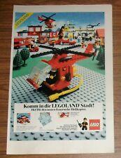 RARA pubblicità LEGOLAND LEGO TOWN 6685 ELICOTTERO POMPIERI 6382 1982