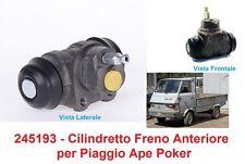 245193 - Cilindretto Freno Anteriore per Piaggio Ape Poker Benzina e Diesel