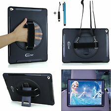 For iPad 2 3 4 Case Shock Proof Hand Grip Shoulder Strap Kickstand Cover
