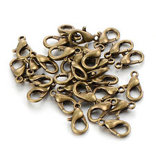 Necklace bronze Findings clasps bronze lobster clasp hook safety 12mm 100pcs