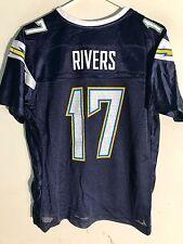 Reebok Women's NFL Jersey San Diego Chargers Phillip Rivers Navy sz M