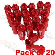 20PC JDM Racing Wheel Lug Nut Lock Bolt Set for Car Honda Ford M12X1.5 50MM Red