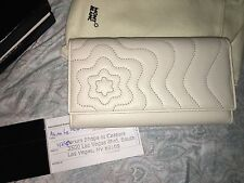 NEW MONTBLANC White Leather Starisma Alcina Wallet 6cc Long Clutch 102583 Italy