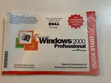 Windows 2000 Professional w/SP3 Full Version Original CD & Product Key