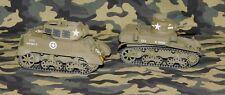 1/35TamiyaU.S. M3 Stuart & M8 HMCbuilt & painted. Lot of 2 armor models.