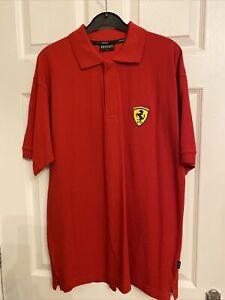 Genuine Ferrari Red Polo Shirt - Size medium - New - Bought In Monte Carlo