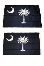 3x5 Embroidered South Carolina Double Sided 2ply 220D Nylon Flag 3'x5'