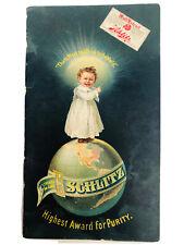 Schlitz Beer Calendar Graphic Advertising Booklet Pre-Prohibition 1896-1897 Rare