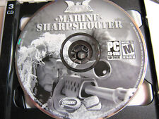 MARINE SHARPSHOOTER  -  PC CD Rom Shooter Video Gaming  3 Discs  -Complete EUC