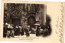 CPA Bellenaves-Portail de l'Eglise Romane (263055)