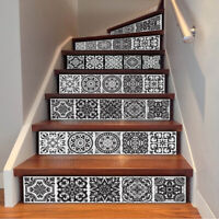 6Pcs Vintage Self Adhesive Stair Stickers Peel and Stick Home Decor Tile Sticker