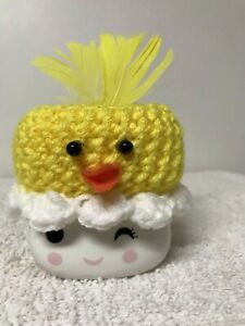 Handmade Duck Crocheted Marshmellow Mug Hat Pairs With Rae Dunn