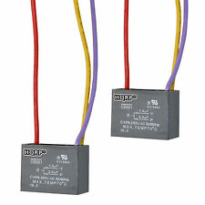2-Pack HQRP CBB61 Capacitor for Hampton Bay Ceiling Fan 1.5uf+2.5uf 3-Wire