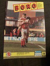 1992 Middlesbrough V Watford Football Programme