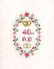 La mayoría de edad-Xviii o Xxi cross stitch tarjeta de felicitación-Kit Completo el 16 de Aida