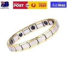 Tourmaline Energy Bracelet Far Infrared Negative Ion Germanium Magnetic Gold