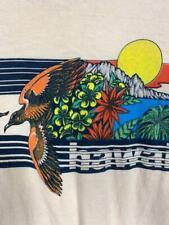 Vintage 70'S Hawaii Floral Aloha Birds Print T Shirt Print-Tees Size Medium Nr