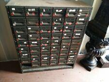 More details for vintage industrial steel bank of 53 drawers index engineers cabinet