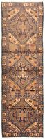 "Vintage Hand-Knotted Carpet 3'0"" x 10'0"" Traditional Oriental Wool Runner Rug"