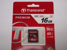 TRANSCEND 16GB SDHC 90MB/s Class10 UHS-I Speicherkarte TS16GSDU1 Karte SD