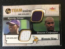 "2001 Fleer Focus Tag Team Tandems Randy Moss/Daunte Culpepper ""BACKDOORED"""