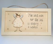 The Best Man for the Job Plaque Novelty Birthday Gift Ideas for her