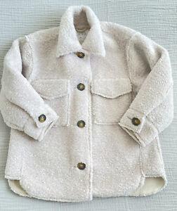Zara Boys Cream Fleece Shacket - Age 6 -Excellent Condition
