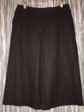 TALBOTS Brown 99% Wool Wide Leg Capri Cropped Pants Size 8 Petite NWT $108