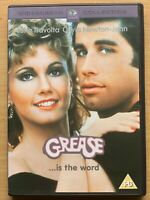 Grease DVD 1978 Musical Film Movie Classic w/ John Travolta + Olivia Newton John