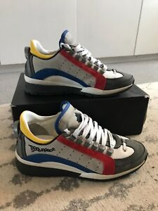 Dsquared2 551 Sneakers White Blue Red UK 8 EU 41 RRP £340